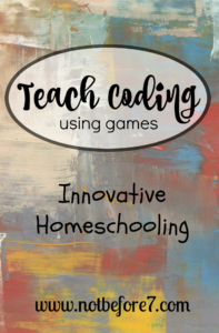 Teach Coding Using Games