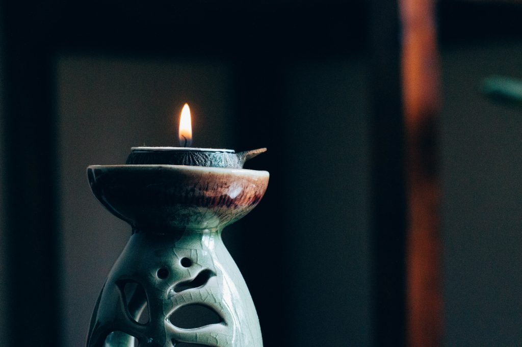 Simple Self Care for Moms. Light a candle.