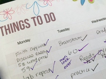 Using a weekly planner to Homeschool High School