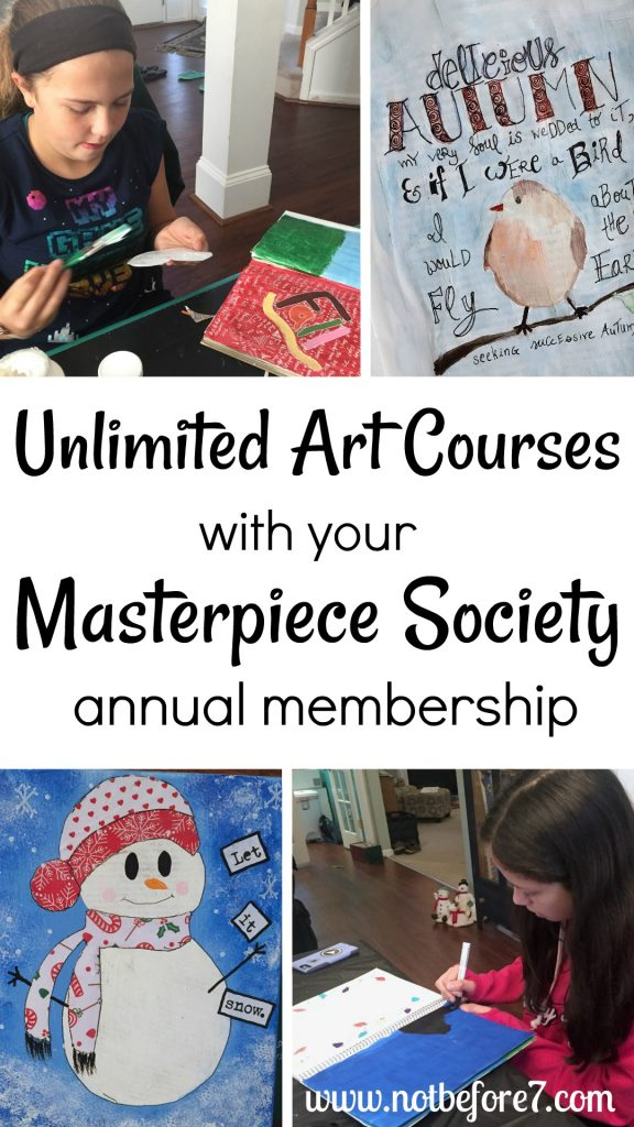 Check out a Masterpiece Society Studio Membership for instant access to unlimited art coures all year long.