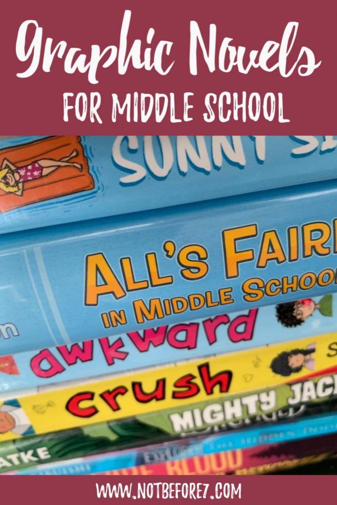 A list of graphic novels for middle school students